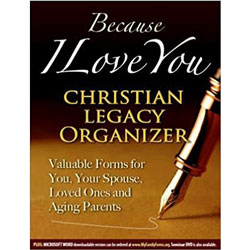 Because I Love You Christian Legacy Organizer