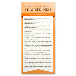 Family Prayers of Thankfulness