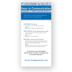 Military Ministry Keys to Communication Prayer Card