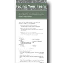 Facing Your Fears - Military Prayer Card