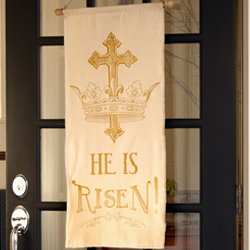 He is Risen - Two-Sided Banner