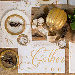 Gather Together Placemats - 4 Set