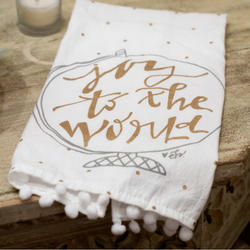 Joy to the World Tea Towel
