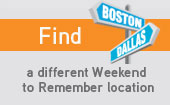 Find a Weekend to Remember® Getaway near you!